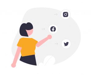 How to delete social media