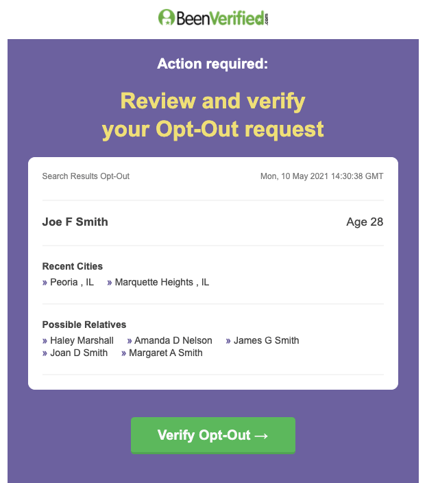 How to file a BeenVerified opt out